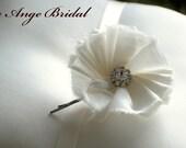 ON SALE/Single silk flower Bobby pin/each
