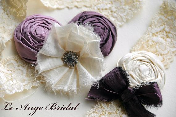 SET) Silk garters- Dream of Purple