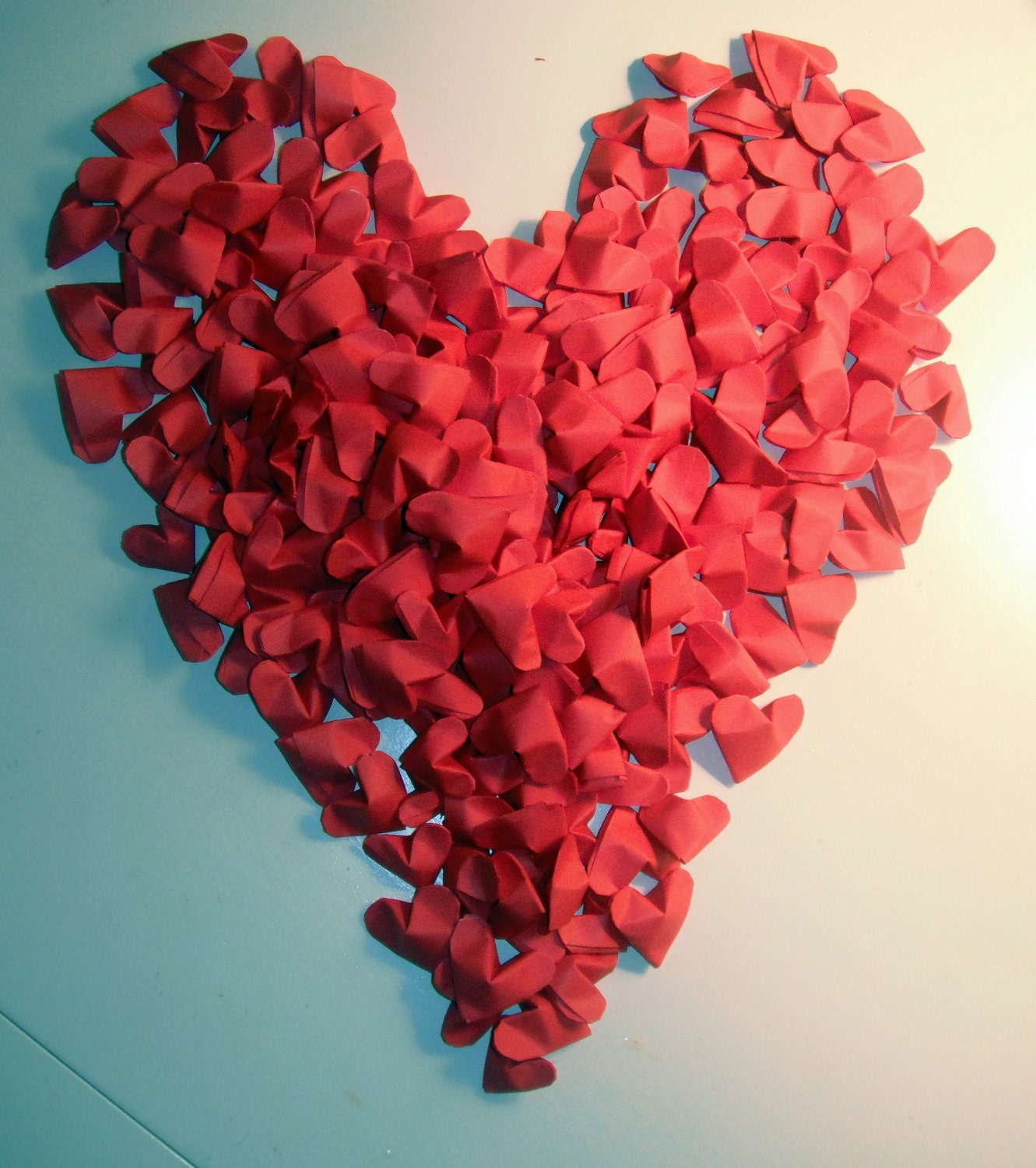 100 Origami Hearts Made To Order Red Wedding by ... - photo#17