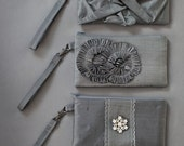 Three Bridesmaid Silk Wristlet/Clutch Gifts