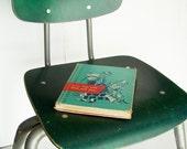 Vintage Green Kids School Plywood Chair
