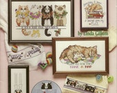 Kitty Cat Cross Stitch Charts Booklet Kitten Cute
