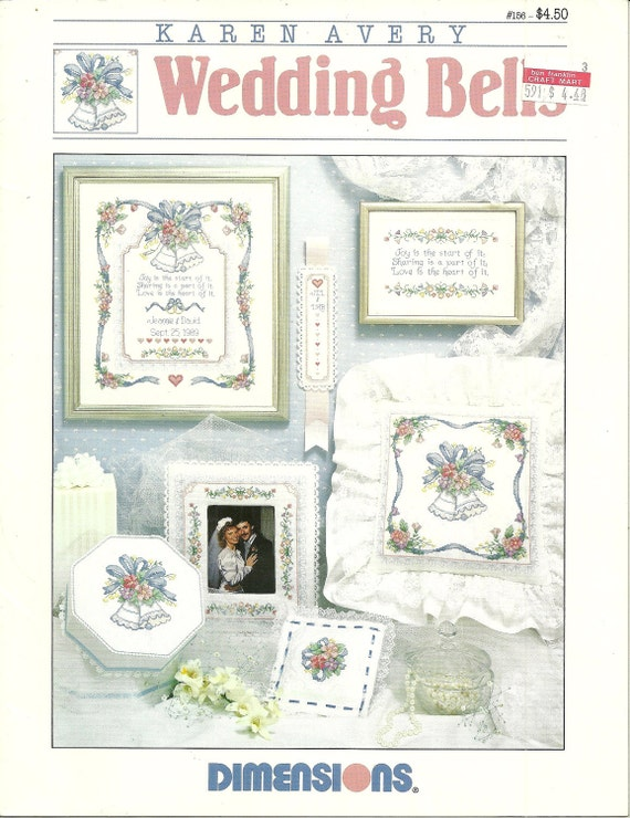 wedding bells and sampler cross stitch designs pattern chart