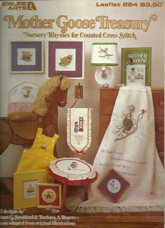 Mother Goose Treasury Cross Stitch Charts Booklet Nusery Rhymes Leisure Arts 264