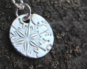 Frosty Necklace … Fine Silver
