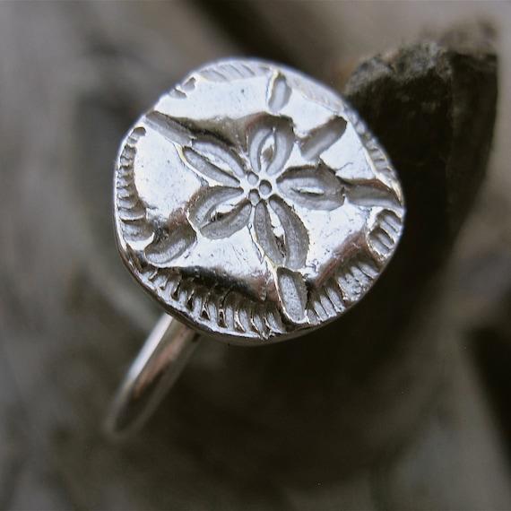 Sand Dollar Ring - Fine Silver