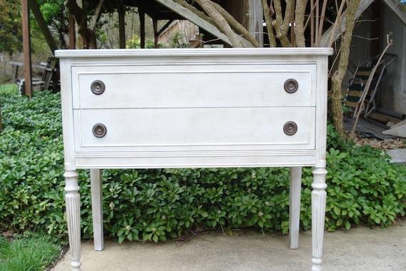 Painted Vintage Two-Drawer Dresser