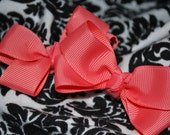 "Plain Jane  Bitty Betty ""WATERMELON"" Boutique Style Bows"