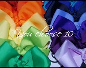 You CHOOSE YOUR COLORS 10 Plain Jane Boutique Style Hairbows