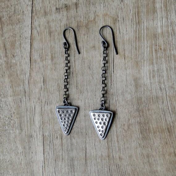 Long Arrow Sterling Silver Earrings