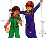 Butterick 5223 Vintage1970s  Pattern Size 2 Jumpsuit Girl / Boy - UNCUT FACTORY FOLD