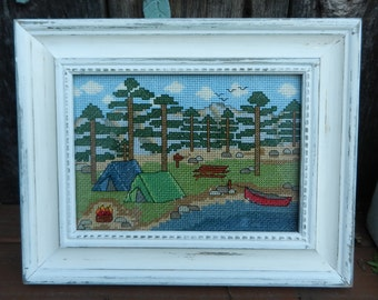 KIT - Camping by the Lake -  Counted Cross Stitch