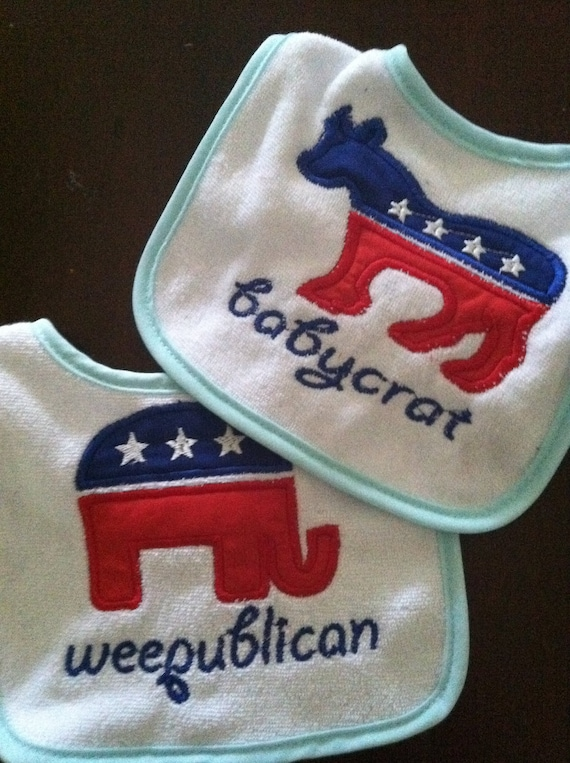 Political Bibs - 1 Republican or 1 Democrat