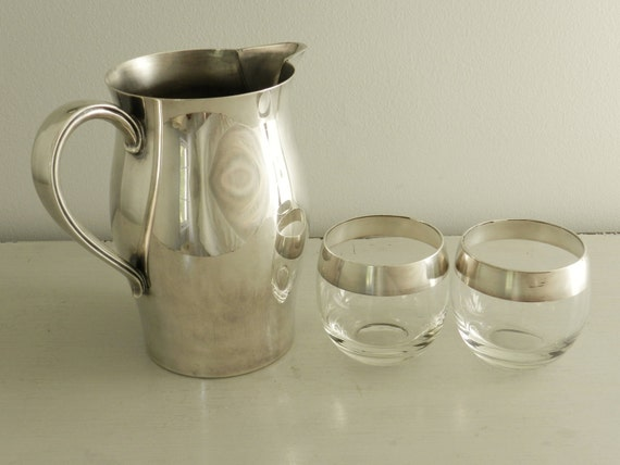 Vintage Silver Pitcher Large Water Paul Revere Reproduction William Rogers