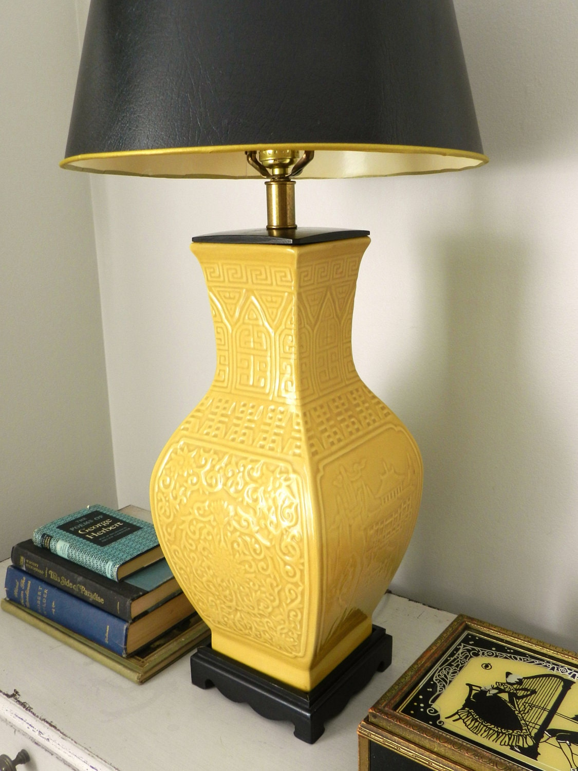 Vintage Chinoiserie Lamp Frederick Cooper Table Lamp Japanese