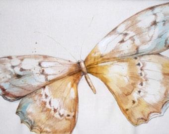 Handpainted Butterfly Lumbar pillow
