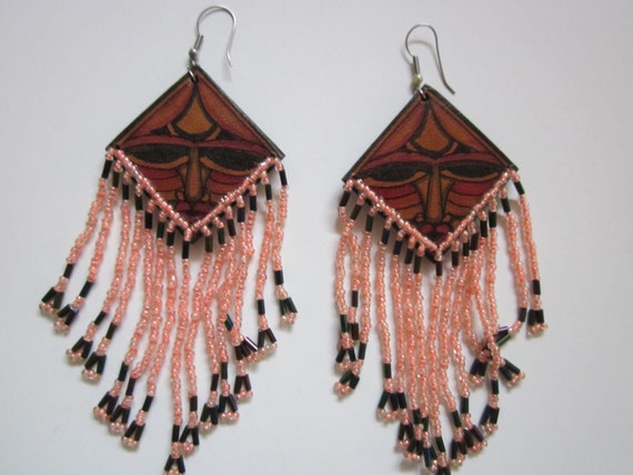 Vintage Tiki Man Earrings