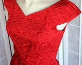 60s Mad Men Dress / Marilyn Monroe / Red Wiggle Dress / by Gay Gibson / WOW