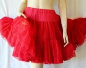 Rockabilly Petticoat / Bombshell RED / Circle Skirt / Dance Fun / by Sam's