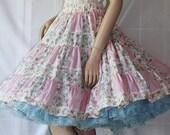 Rockabilly Skirt / Vintage Circle Skirt / Swing Dance FUN / by Delightful Frocks