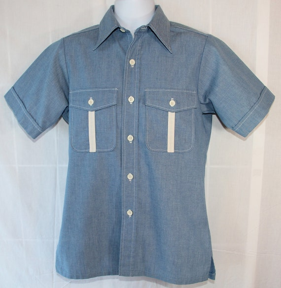 70s Shirt / Hipster / Rockabilly / Spring Summer / Gifts for Men / Sport-Abouts by Big Yank
