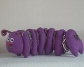 Plush Animal - Mavis,plush,animal, doll,stuffed animal,creature, sculpture , ,uk,monster,alien, caterpillar,planet bob,planet,sci-fi,fantasy