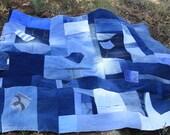 RESERVED FOR SAMMIE Denim picnic blanket made to order