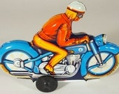 "Vintage Tin Friction ""PN"" Motorbike From Western Germany"