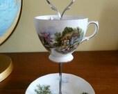 Vintage Teacup Jewellery Stand