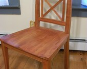 Handmade Wood Dining Chair with Hand Carved Seats- Vermont Cherry