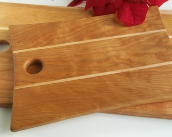 Cutting Board in Vermont Cherry and Vermont Maple Wood