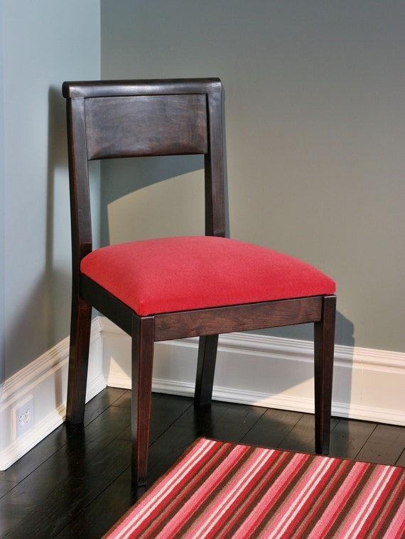 Dining Chair Black Walnut with Upholstered seat-Side Chair