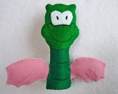DIY Finger Puppet Felt Pattern - dragon Sam