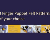 Combine & Save: 3 Finger Puppet Felt Patterns