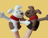 Finger puppet set - Dog Billy - charity & shipping promo