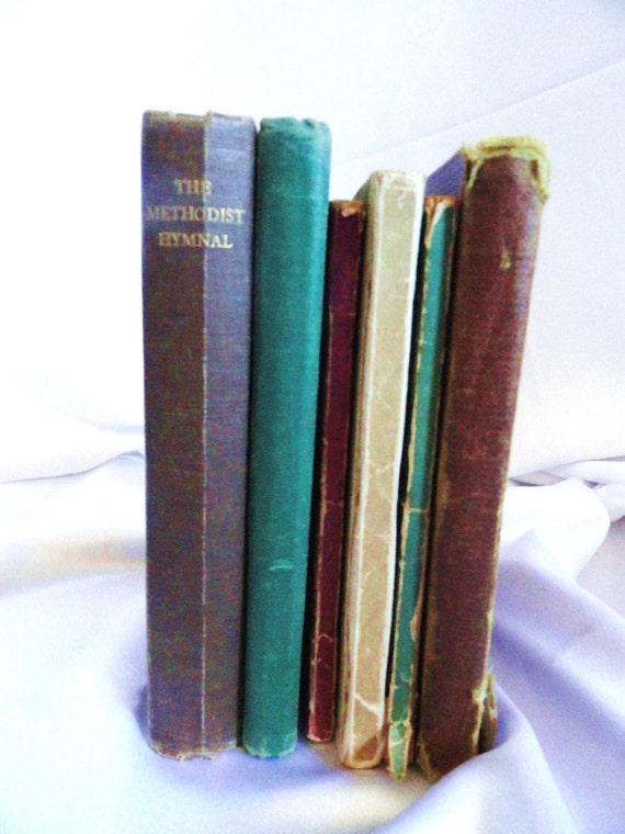 Set of 6  Religious Hymnals, from 1910, 1930s, 1940s,  Treasured, cherished songs