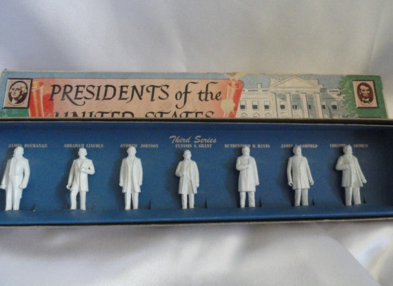 Vintage Presidents, Third Series, Louis Marx and Co, New York, Collectible figurines, United States Presidents