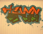 Custom Graffiti Art Framed