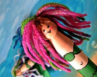 Adorable Mermaid Clothes pin dolls- FUN FINS