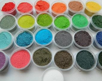 Dusting, Sanding, Or Rimming Sugar Kit Set Of 25 Colors
