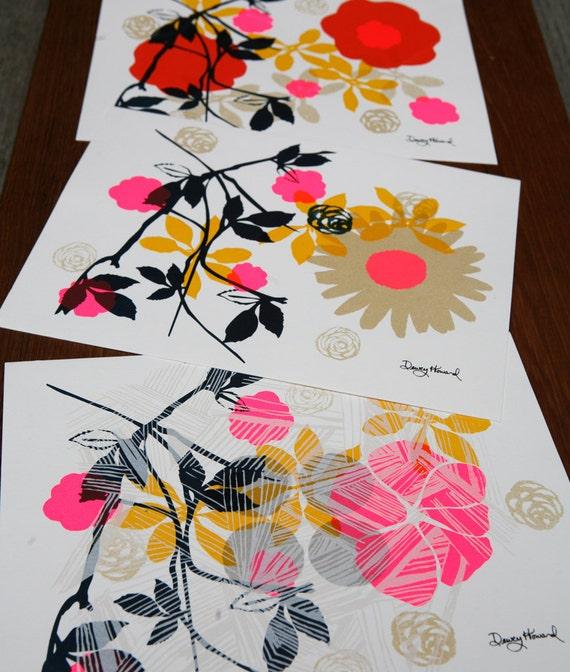 Fine Art Print - Floral Silk Screen Wall Art