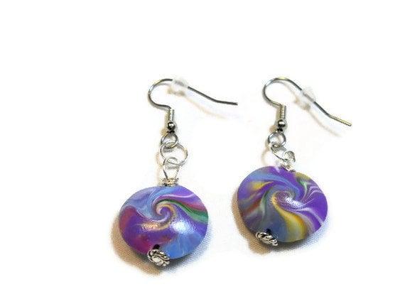 Purple Swirls Earrings