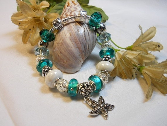 Seasonal 2 in 1 Aqua Pandora Style Bracelet