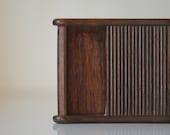 Vintage Pocket Cigarette Case, Cigarette Holder, Wooden Cigarette Case, Cigar Box, Cigarette Box, Accordion Slide Door