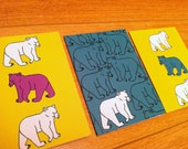 Polarbear Birthday Cards Pack of Three