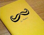 Mustard Moustache Handmade Notebook