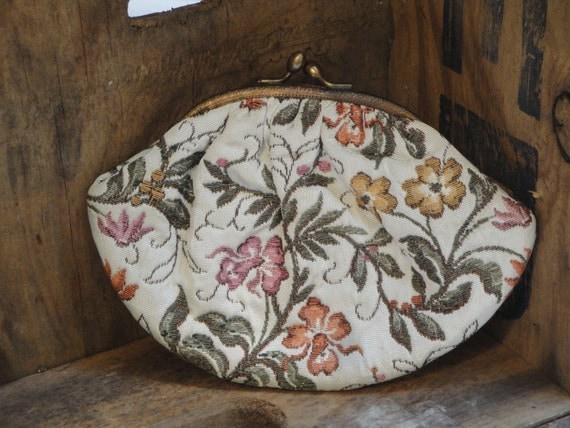 Small Vintage Floral Purse Made in Italy