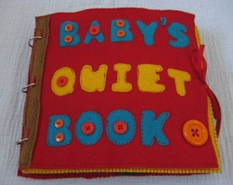 PDF - Baby Quiet Book Pattern - 12 pages
