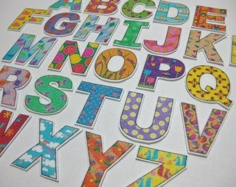 PDF - Spring ABC Alphabet & Number fridge magnets / cut outs / felt board letters - Printable DIY