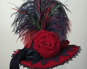 Made to Order - Victorian Tall-Crown Hat, Your Choice of Colors - Steampunk, Gothic, Bustle, SASS, Made to Order